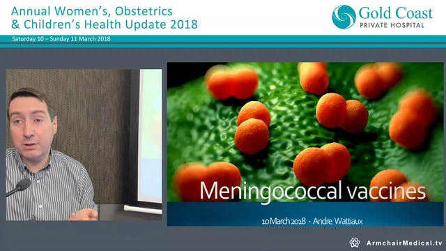 Meningococcal Vaccines Dr Andre Wattiaux, Paediatrician