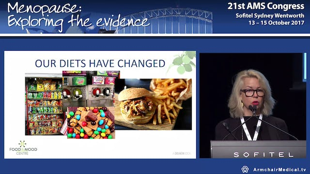 Diet and nutrition in depression and brain health Prof Felice Jacka