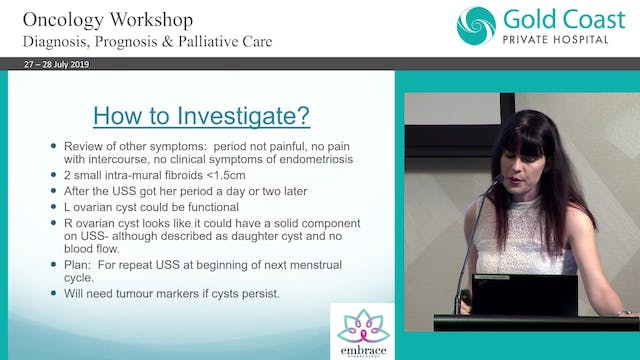 Ovarian Masses Dr Helen Green, Gynaecological Oncologist