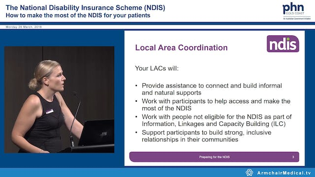 Preparing for the NDIS Zoe Gill, Dr Ingrid Francis, Lesley Maher