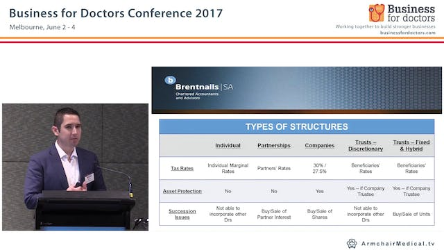 Business structures for doctors and medical practitioners Matthew Holden