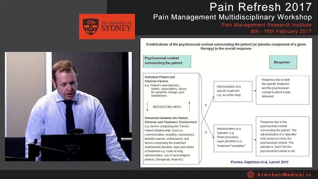 Placebo analgesia: Implications for routine clinical practice Associate Professor Damien Finniss