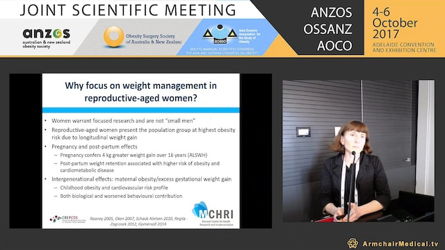 Weight management in women of reproductive age - Assoc Prof Lisa Moran