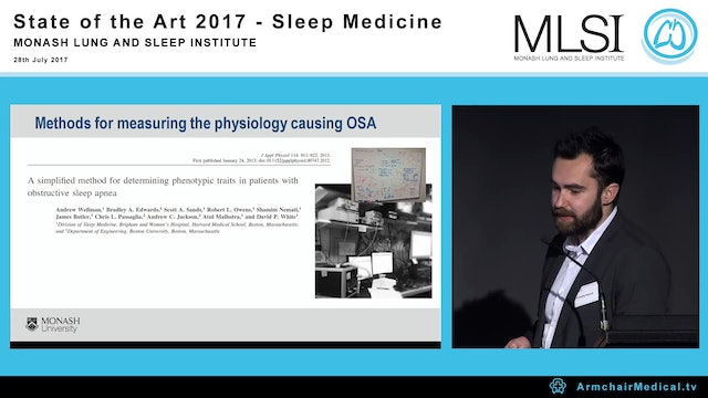 The sleep apnoea phenotypes Towards assessment from clinical polysomnography Dr Brad Edwards