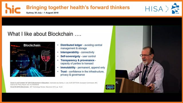 Blockchain and irs applicability to health professional education, dredentialing and research Ian Graham