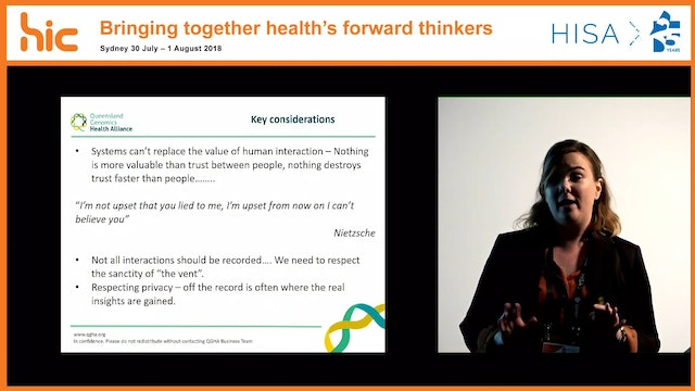 Health information is more than ones and zeroes Dayna Williamson
