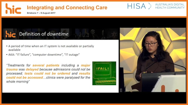 Downtime in digital hospitals An analysis of patterns and causes over 33 months Jessica Chen