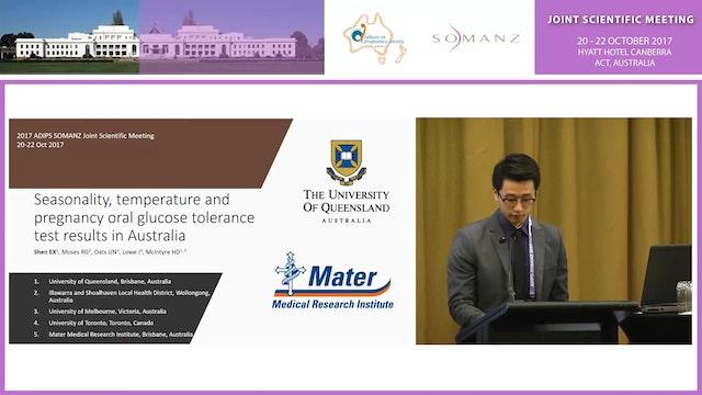 Seasonality, temperature and pregnancy oral glucose tolerance test results in Australia Eddie X Shen