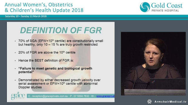 Fetal Growth Restriction and the Plac...