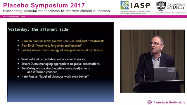 Clinical Applications of Placebo and Nocebo Research Conference Summary Prof Milton Cohen