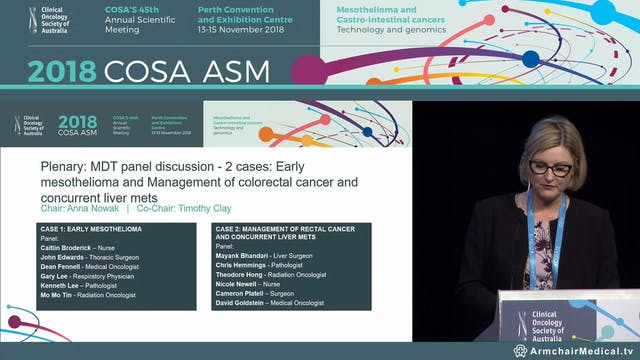 MDT panel discussion - Early mesothelioma Case