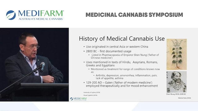 Status of Medical Cannabis in 2018 Prof Jeff Dunn AO - MEDIFARM Advisor