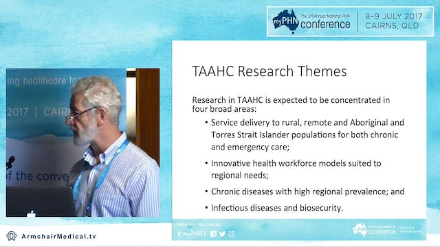 The Tropical Australian Academic Health Centre Prof Ian Wronski