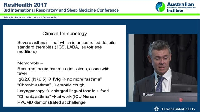 What Does Immunologiogy Have to Offer in Management of Severe Asthma Dr Anthony Smith