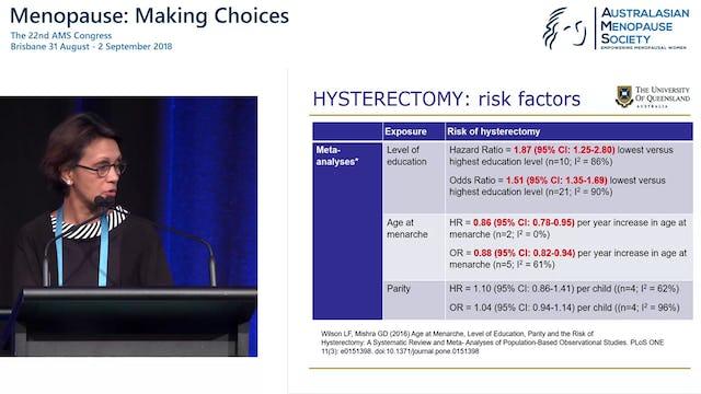 Hysterectomy trends predictors and health consequences Prof Gita Mishra