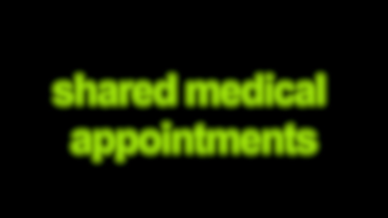 Shared Medical Appointments Blurred