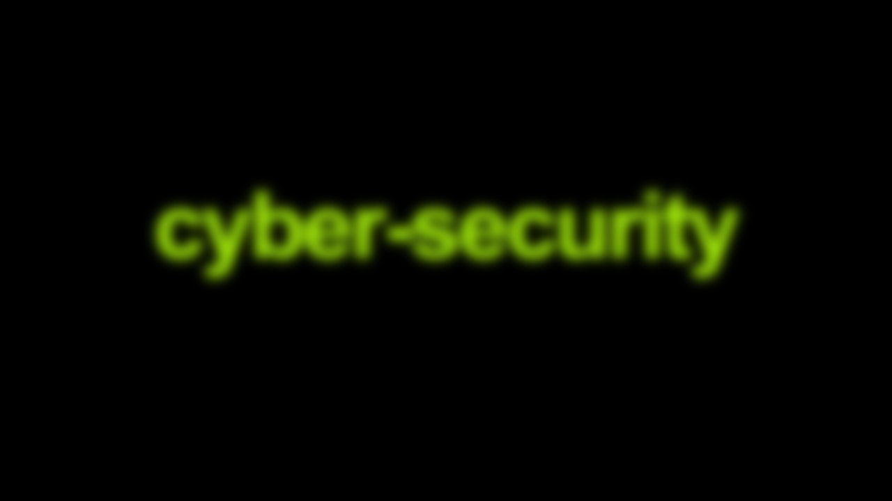 Cyber-security Blurred