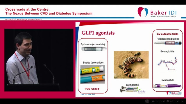 GLP1 analogues preventing CVD Prof Jonathan Shaw