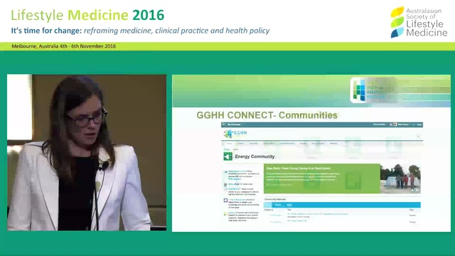 Abstract: Driving change in healthcare: the  Global Green and Healthy Hospitals network Carol Behne