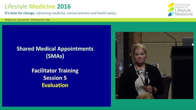 SMA Facilitator Training - Evaluation