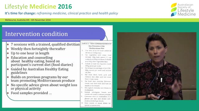 Diet as a therapeutic target for major depression Dr Adrienne O'Neil
