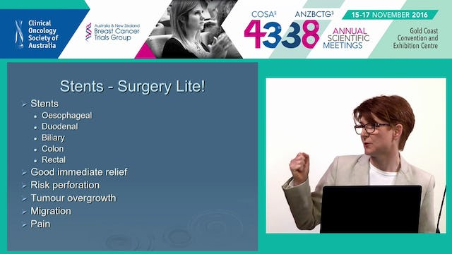 Aetiology and management of malignant bowel obstruction AProf Joanne Doran