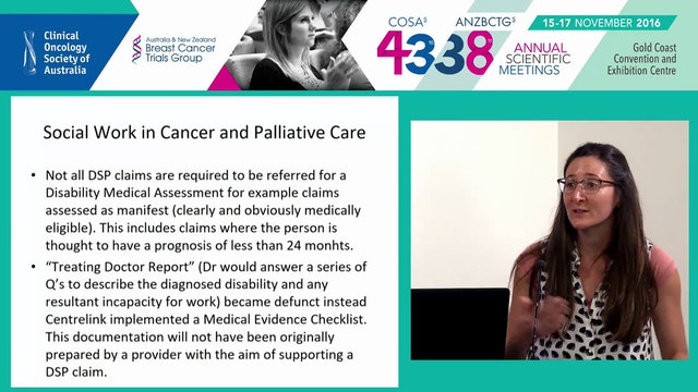 Social work in cancer and palliative care Ms Lois Lawler & Emily Plunkett