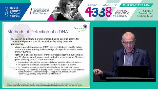Circulating cell­free tumour DNA in cancer Post Therapy Monitoring Glenn D Francis