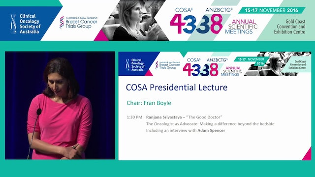 COSA Presidential Lecture The Good Do...
