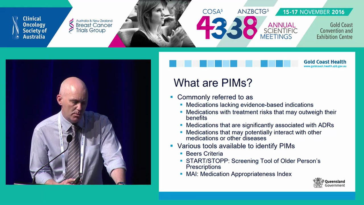It's all in the detail medication conundrums in the older cancer patient  Michael Powell - Breast Cancer - armchairmedical.tv