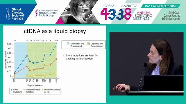 Liquid Biopsies Characterising the Cancer Genome in Blood Prof SarahJane Dawson