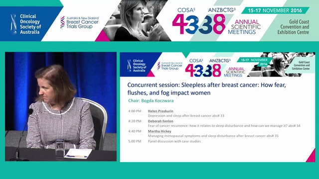Sleepless after breast cancer Panel D...