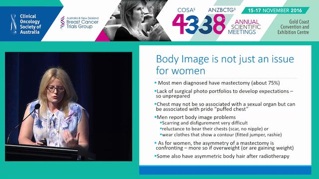 Psychological Issues in Male Breast Cancer Jemma Gilchrist