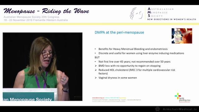 Contraception at perimenopause Clin Assoc Prof Deborah Bateson