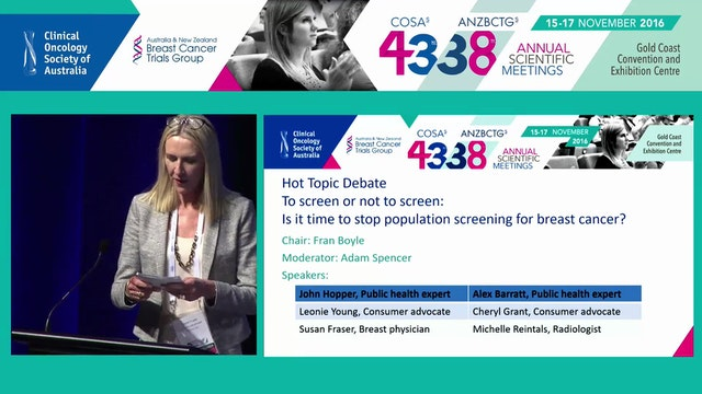 Debate ­ To screen or not to screen is it time to stop population screening for breast cancer