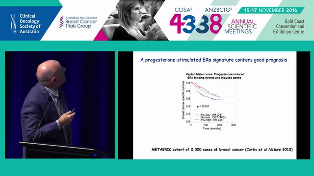 Targeting progesterone and androgen receptors to enhance ER­target therapies in breast cancer Wayne Tilley