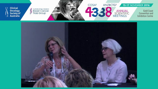 Scalp Cooling Panel Discussion Prof Fran Boyle, Vicki Durston, Mandy O'Reilly, Gina Chant