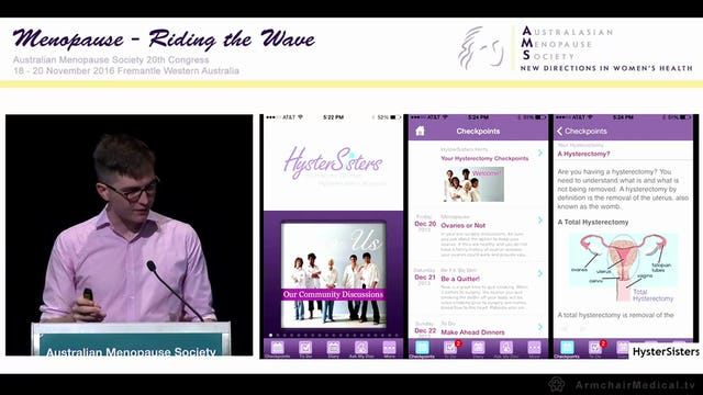 "Getting ""app""y – apps for women's health and menopause – what's out there Hugh Stephens"