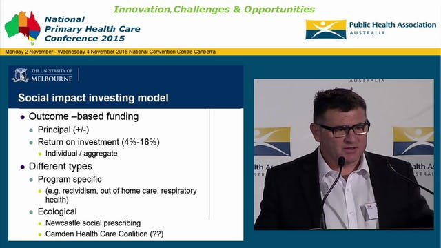 Social Impact Bonds Options for primary health care financing AP John Fitzgerald