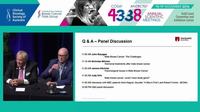 Malebreastcancer Panel Discussion