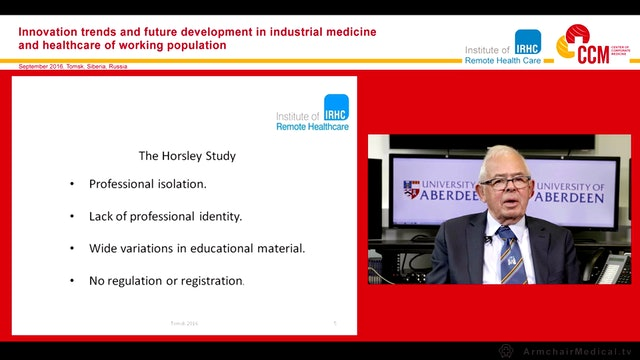 Development of competent remote healthcare practitioners Prof John Nelson Norman