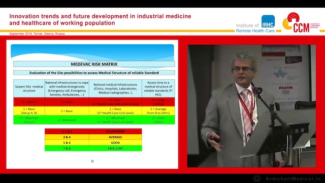 Management of medical emergencies in remote and extreme remote areas Prof Frano Mika