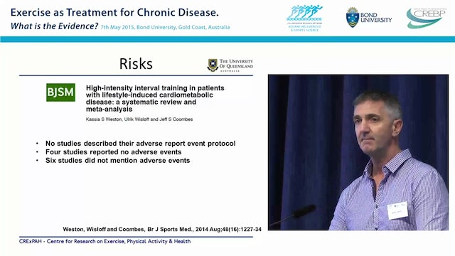 High Intensity Interval Training in Chronic Disease Prof Jeff Coombes