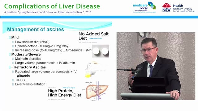 Management of Advanced Liver Disease & Cirrhosis Dr Brett Jones - Director of Hepatology, Northern Sydney Local Health District