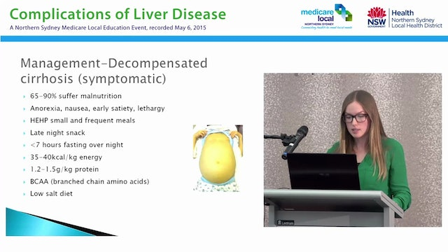 Nutrition and Liver Disease Ali Grattan-Smith - Dietitian HIVHepatology, NSLHD