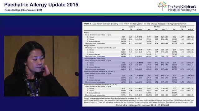 New Developments in Food Allergy Prevention and Treatment Mimi Tang