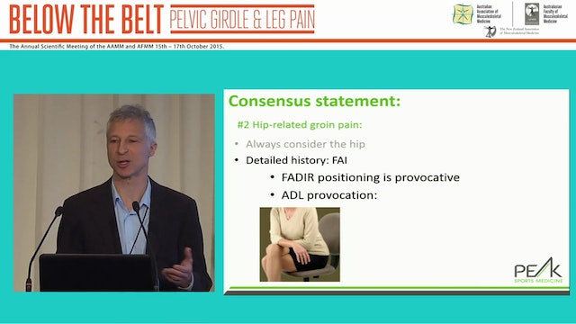 Assessment and Management Chronic Groin Pain Dr Peter Braun