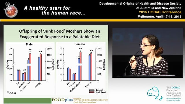Maternal nutrition and metabolic programming are there opportunities for intervention Bev Muhlhausler (Adelaide, SA)