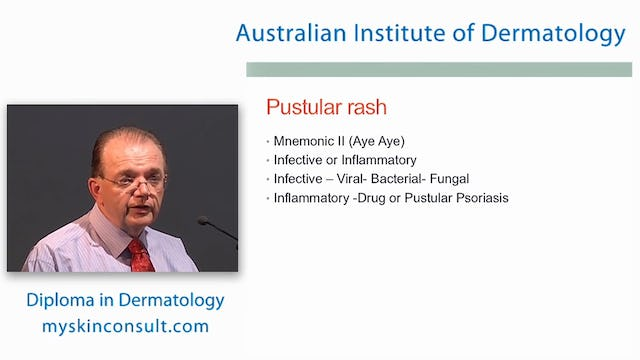 Diagnostic Algorithms for Inflammatory Skin Disease Dr. Ian McColl John Flynn Private Hospital