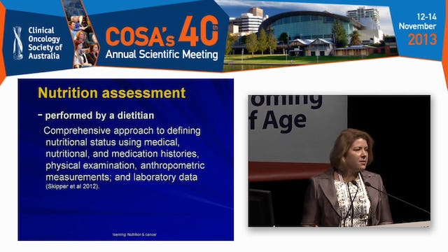 Nutrition in the older cancer patient - practical tips for screening assessment and intervention Elizabeth Isenring